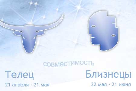Союз мужчины-Тельца и женщины-Близнецов