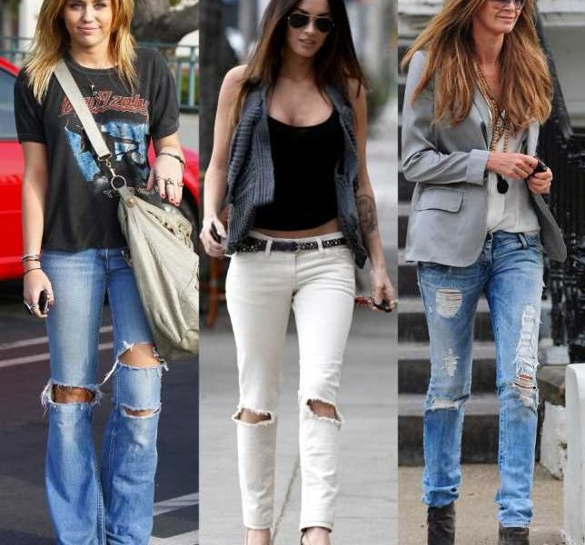 С чем носить рваные джинсы: фото и советы