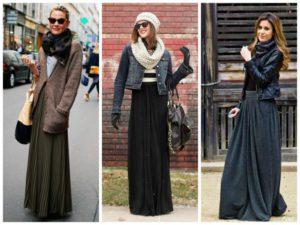 С чем носить длинную юбку: беспроигрышные сочетания
