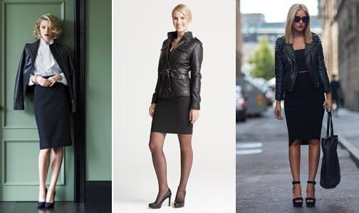Стоит ли совмещать кожаную юбку и кожаный верх.