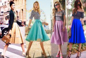 С чем носить юбку солнце: фото удачных сочетаний