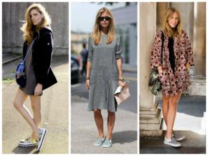 Слипоны и платья