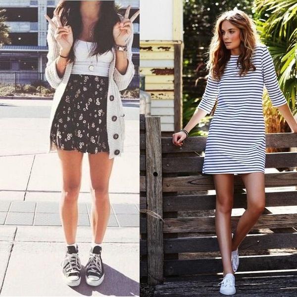 Кеды и платья
