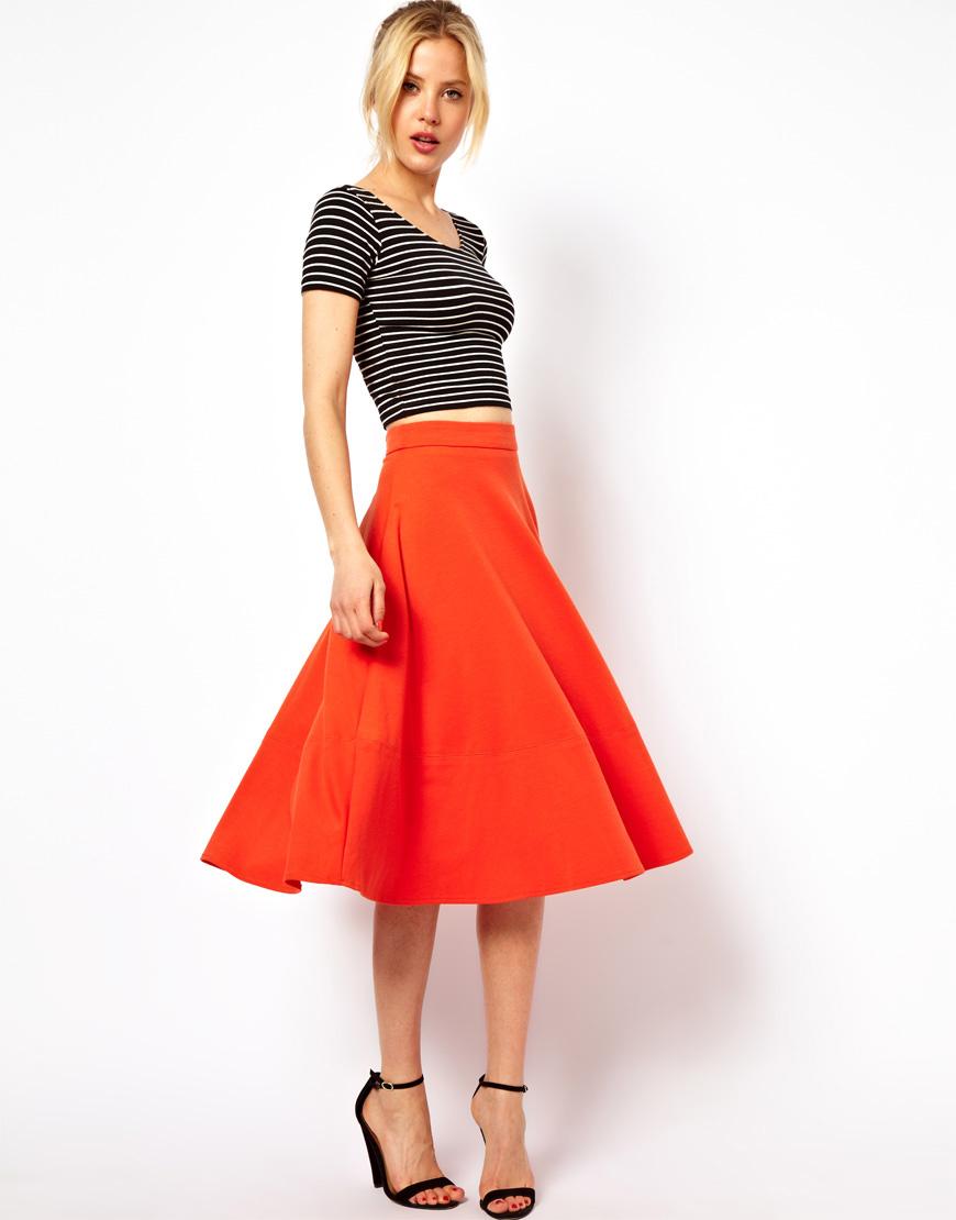 С чем носить юбку солнце клёш?