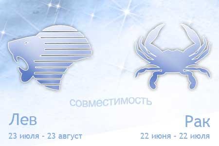 Первое сочетание: Женщина-Лев – Мужчина-Рак