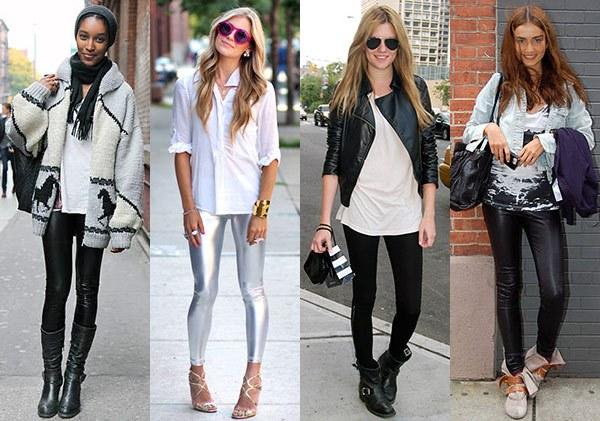 Как правильно носить кожаные леггинсы?