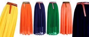 Итак с чем же носить кожаные юбки разных цветов?
