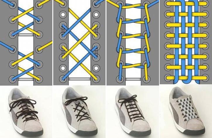 Варианты шнуровки