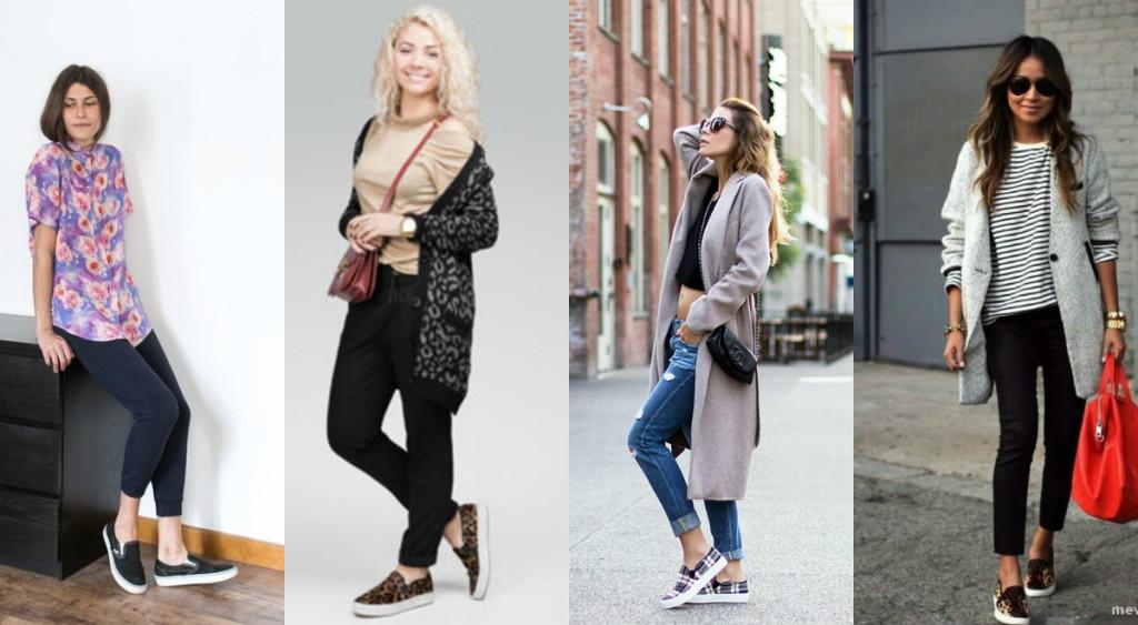 С чем носить женские слипоны девушкам: фото 2016-2017 Платформа Обувь Мужская
