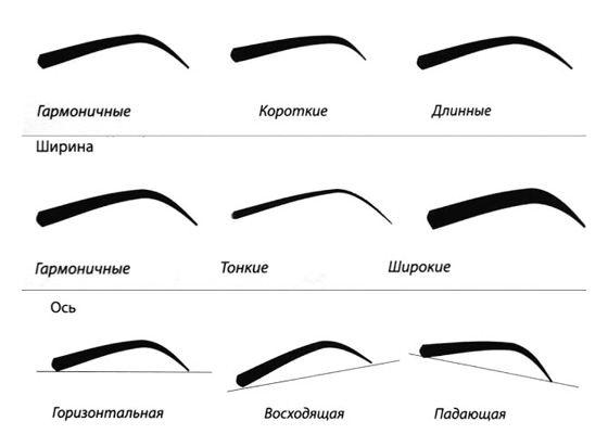 Как правильно выбрать форму бровей?