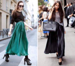 С какой обувью носить юбку в пол?