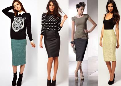 Для начала давайте разберём как носить юбку-карандаш полненьким и стройным, и с чем носить такую юбку-карандаш