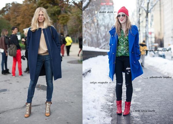 Определённо выберут пальто синего цвета: