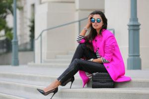 С чем носить розовое пальто? Рассмотрим разные сочетания