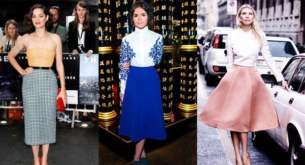 С чем носить юбку-миди и как правильно подобрать фасон?