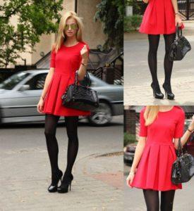 С какими колготками носить красное платье