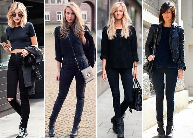 И ещё немного о нарядах с участием чёрных джинсов