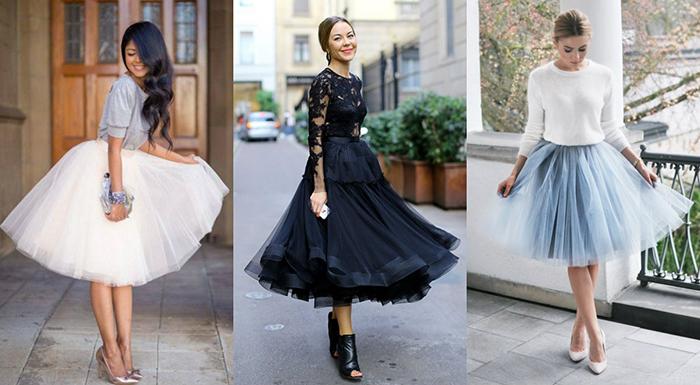 С чем носить юбку пачку: фото модных образов