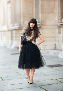 Чёрная фатиновая юбка