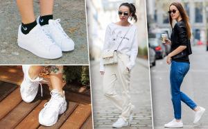 Модели кроссовок белого цвета известных производителей