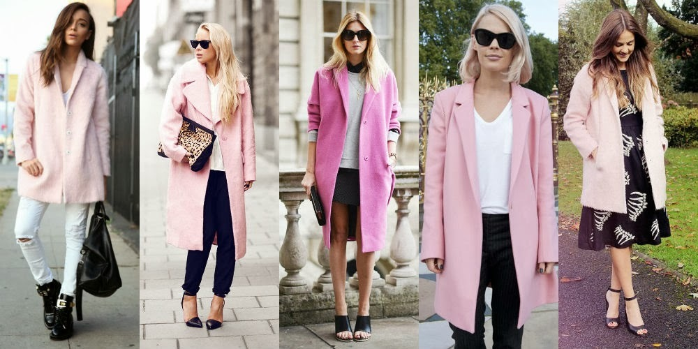 Выбор обуви к розовому пальто
