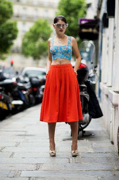 Юбка-миди: с чем носить, фото удачных образов