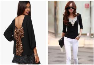 Блузы с отделкой
