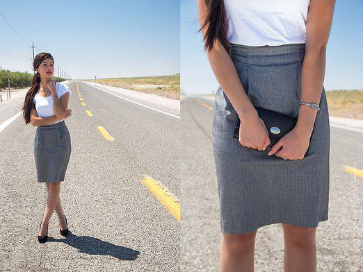 Где купить серую юбку?