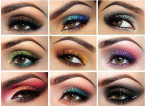 Розовые, лиловые, бордовые оттенки в макияже для карих глаз