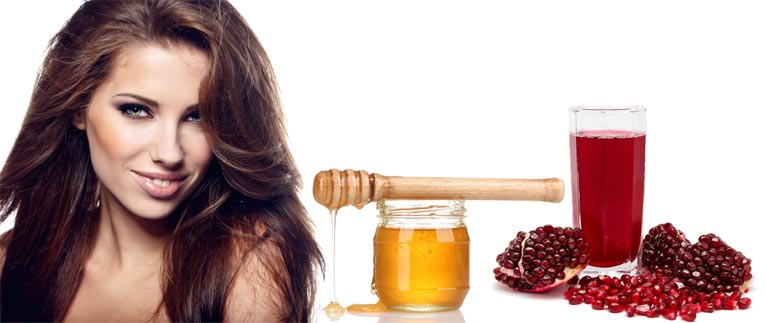 Маска для волос с мёдом в домашних условиях: добавьте гранатовый сок!