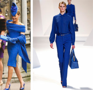 Синяя и голубая одежда