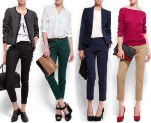С какой обувью носить укороченные брюки летом?
