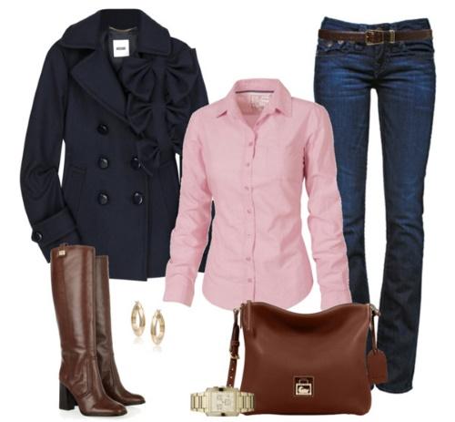 Коричневые оттенки и нежный розовый