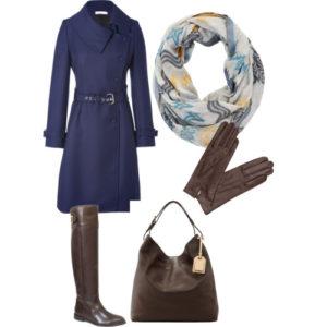 Оттенки синего и коричневого