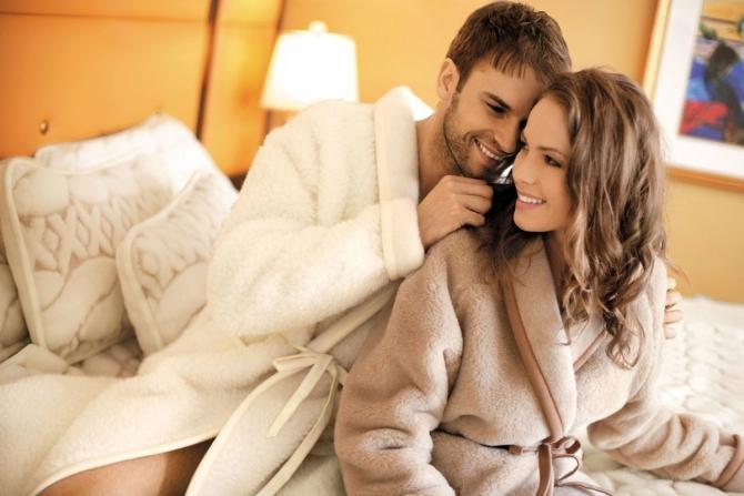 Возбуждение романтичного парня