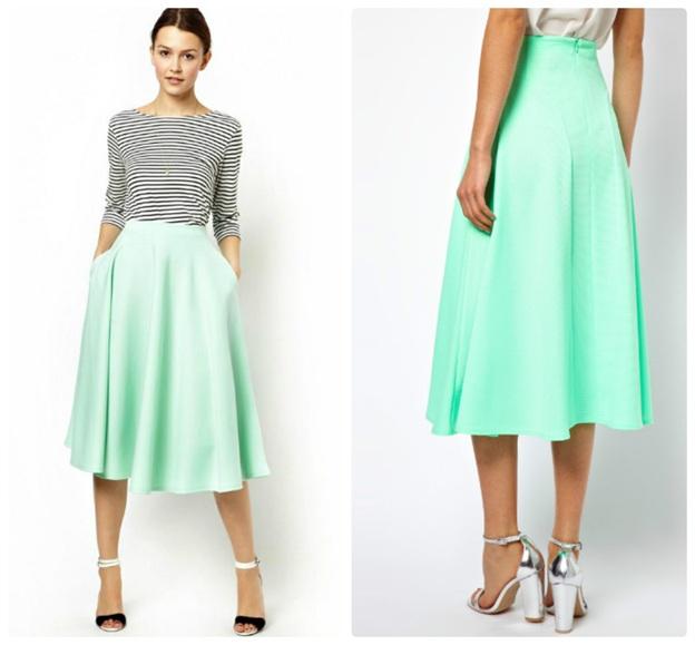 Как правильно носить юбки миди?