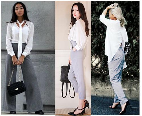 Комплекты со светло-серыми брюками