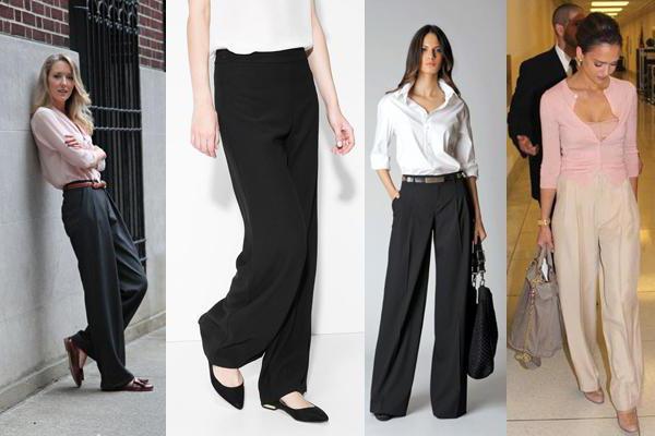 Широкие брюки летом
