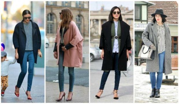 Что надеть к пальто оверсайз с брюками?