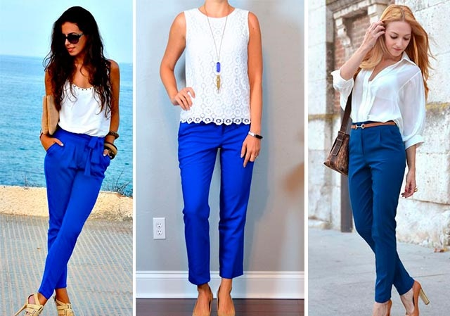 Выбираем майки к синим брюкам