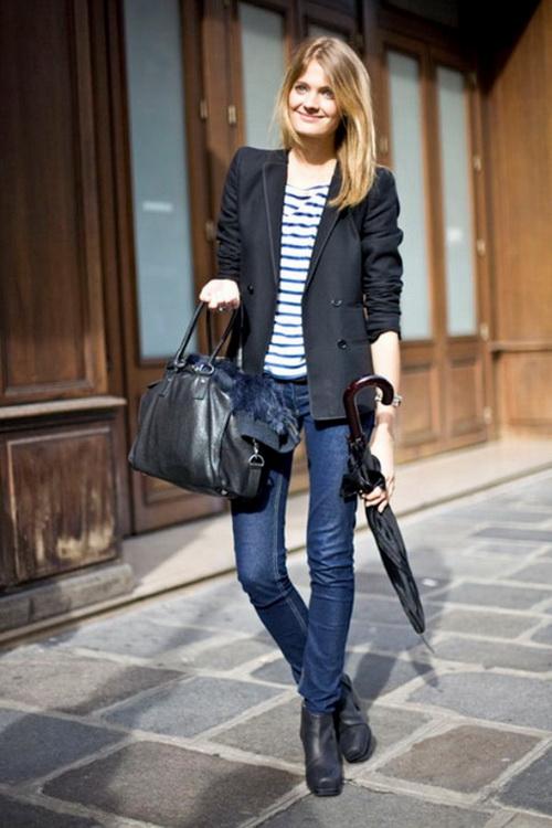 Лучшие комплекты с синим и чёрным пиджаком