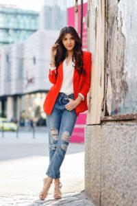 Лучшие комбинации с красным и белым пиджаком