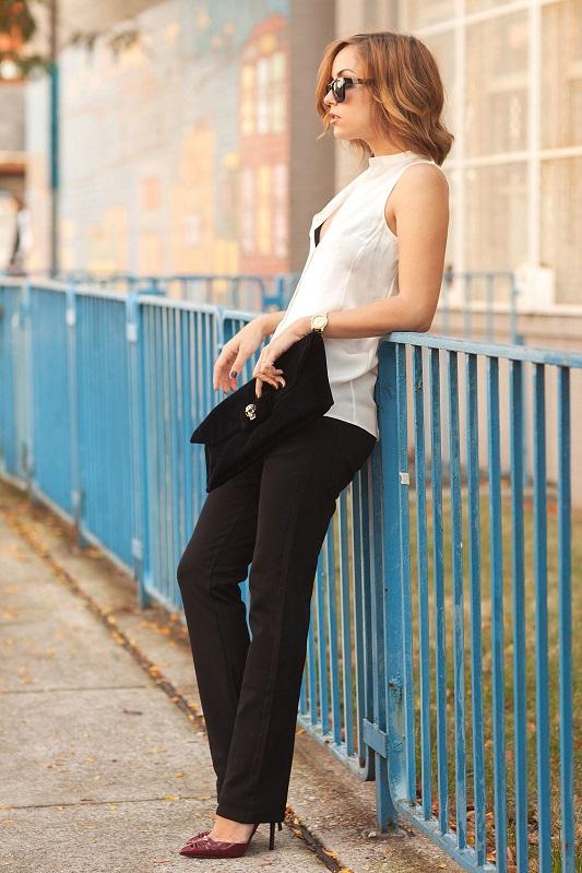 Чёрные брюки в классическом проявлении