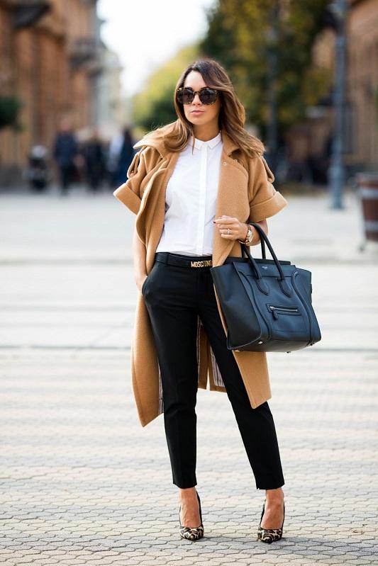 Укороченные модели чёрных брюк