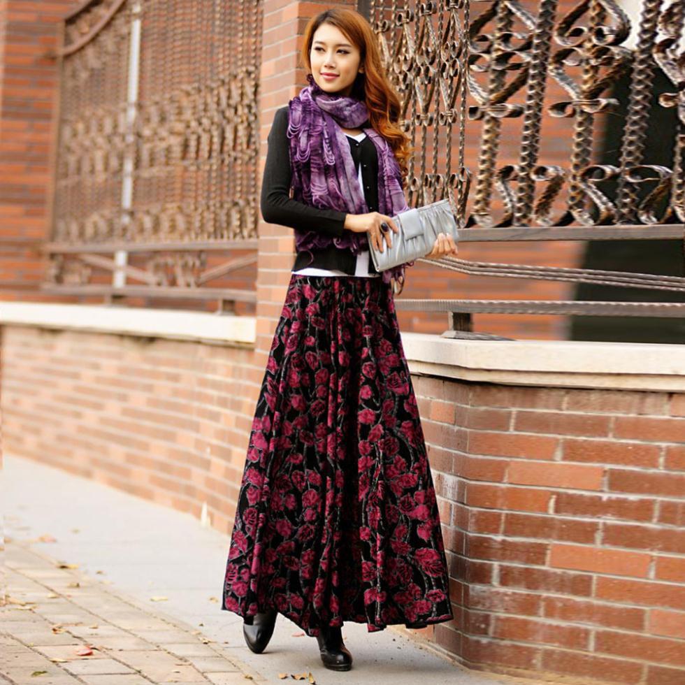 Maxi, Full skirt