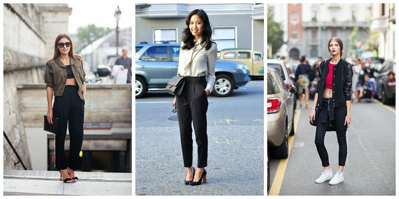 Женщины в чёрных брюках.видео