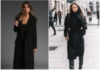 Модные образы с чёрным пальто
