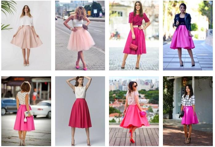 Пышная розовая юбка