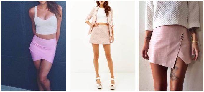 Короткие розовые юбки