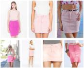 Джинсовые розовые юбки